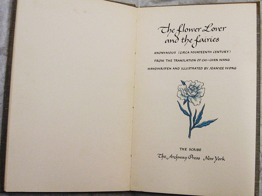 Anonymous The Flower Lover and the Fairies